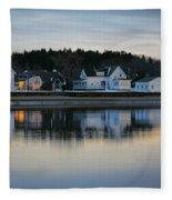 Fort Baldwin Winter Evening Fleece Blanket
