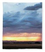 Fort Collins Colorado Sunset Lightning Storm Fleece Blanket