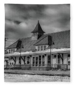 Fort Edward Train Station Fleece Blanket