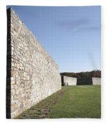 Fort Frederick In Maryland Fleece Blanket