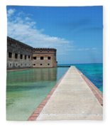 Fort Jefferson Dry Tortugas Fleece Blanket