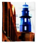 Fort Jefferson Lighthouse Fleece Blanket