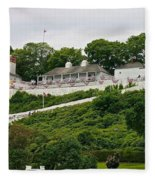 Fort Mackinac Fleece Blanket