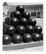 Fort Macon Cannonball Fleece Blanket