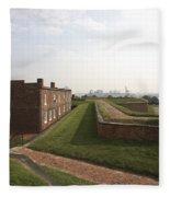 Fort Mchenry Earthworks And Barracks In Baltimore Maryland Fleece Blanket