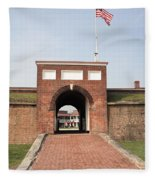 Fort Mchenry Gate In Baltimore Maryland Fleece Blanket