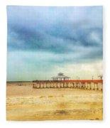 Fort Myers Pier Fleece Blanket