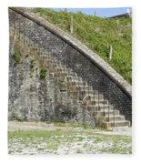 Fort Pickens Stairs Fleece Blanket