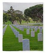 Fort Rosencrans National Cemetery Fleece Blanket