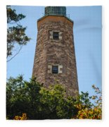 Fort Story Light House Fleece Blanket