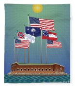 Fort Sumter, Charleston, Sc Fleece Blanket