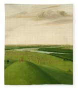 Fort Union Mouth Of The Yellowstone River 2000 Miles Above St Louis Fleece Blanket