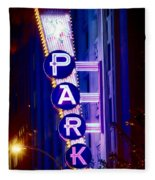 Fort Worth Parking Fleece Blanket