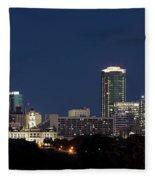 Fort Worth Skyline 051918 Fleece Blanket