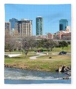 Fort Worth Trinity Park Fleece Blanket