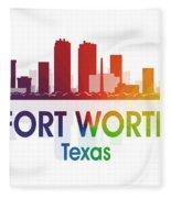 Fort Worth Tx Fleece Blanket