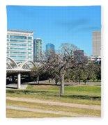 Fort Worth Wide Angle Fleece Blanket