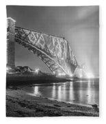 Forth Bridge Landscape Fleece Blanket