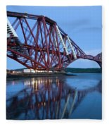 Forth Railway Bridge In Edinburg Scotland  Fleece Blanket