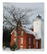 Forty Mile Point Lighthouse Fleece Blanket