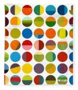 Forty Nine Circles Fleece Blanket