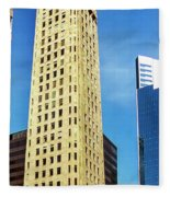 Foshay Tower From The Street Fleece Blanket
