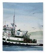 Foss Tugboat Martha Foss Fleece Blanket