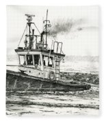 Foss Tugboat Sea Duke Fleece Blanket