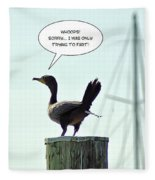 Foul Fowl Fleece Blanket