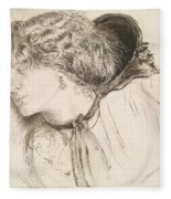 Found - Study For The Head Of The Girl Fleece Blanket