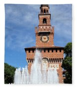 Fountain And Castle Fleece Blanket