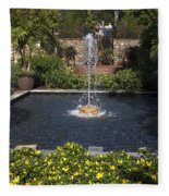 Fountain And Peppers Fleece Blanket