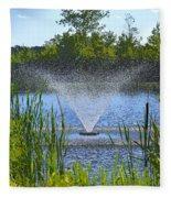 Fountain Art Fleece Blanket