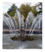 Fountain On The Grounds Of The Peterhof Grand Palace Fleece Blanket