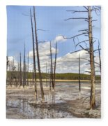 Fountain Paint Pots Lodgepole Pines - Yellowstone Fleece Blanket