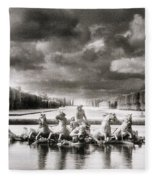 Fountain With Sea Gods At The Palace Of Versailles In Paris Fleece Blanket