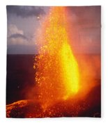 Fountaining Kilauea Fleece Blanket
