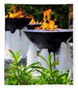 Fountains Of Fire Fleece Blanket