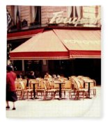 Fouquets Of Paris 1955 Fleece Blanket
