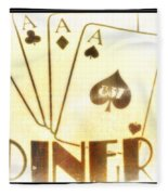 Four Aces Diner Fleece Blanket