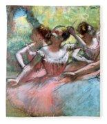 Four Ballerinas On The Stage Fleece Blanket