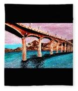 Four Bears Bridge Fleece Blanket