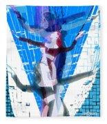 Four Blue Angels Fleece Blanket