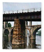 Four Bridges Of East Falls Fleece Blanket