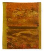 Four Brown Panels Fleece Blanket