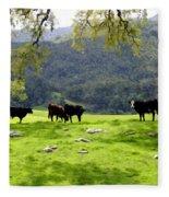 Four Cows At Nojoqui Ranch Fleece Blanket