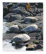 Four Endangered Greenies Fleece Blanket