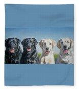 Four Labs Fleece Blanket