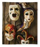 Four Masks Fleece Blanket
