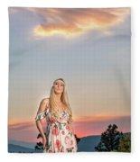 Four Mile Road 1 Fleece Blanket
